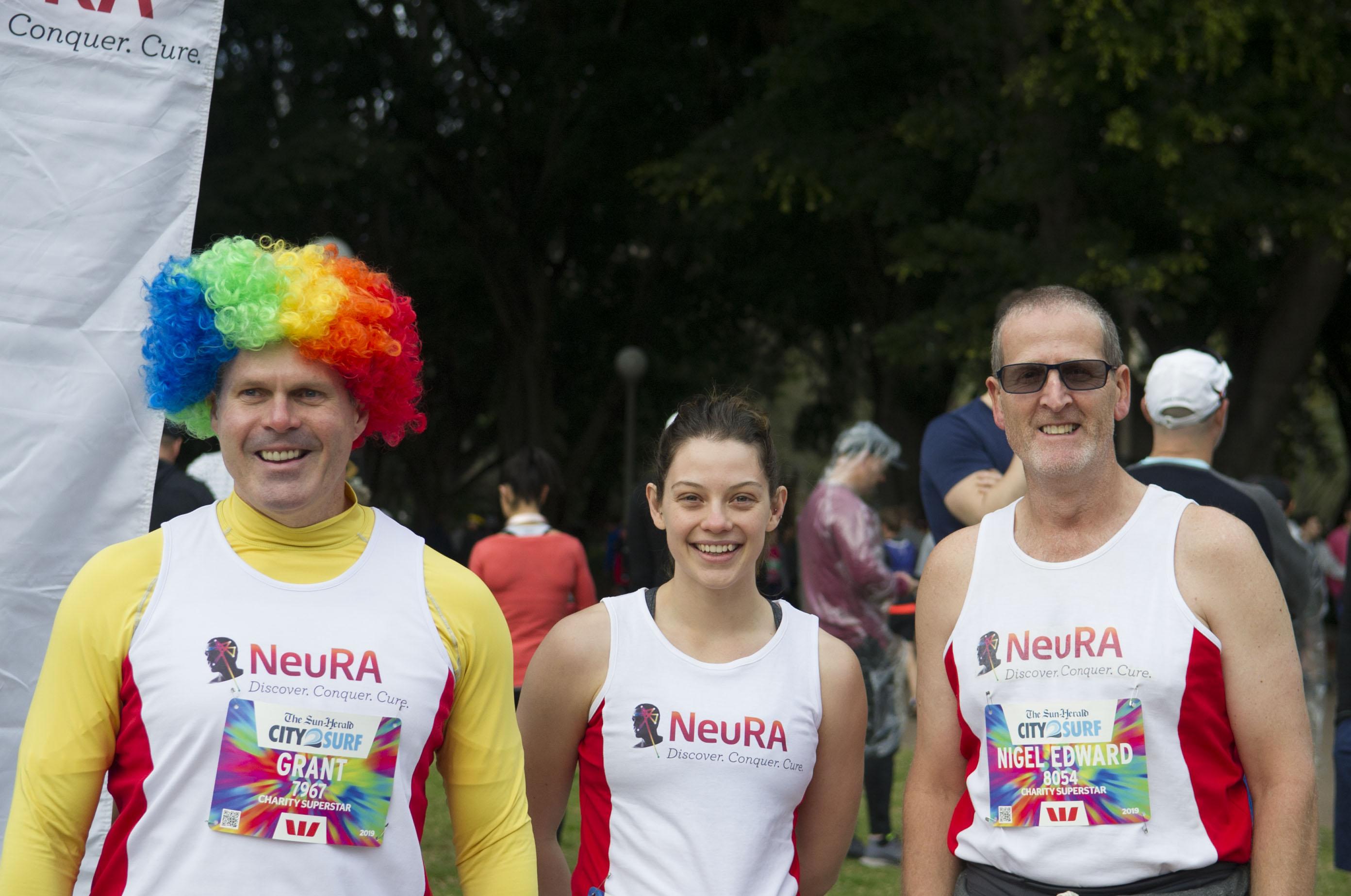 NeuRA Charity Superstars Grant Simpson, Bess Stewart and Nigel Walker